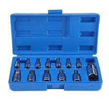 13Pcs/set Drive Torx Star Bit Socket Torx Star Bit Socket Set 1/2inch 3/8inch 1/4inch Drive(China)