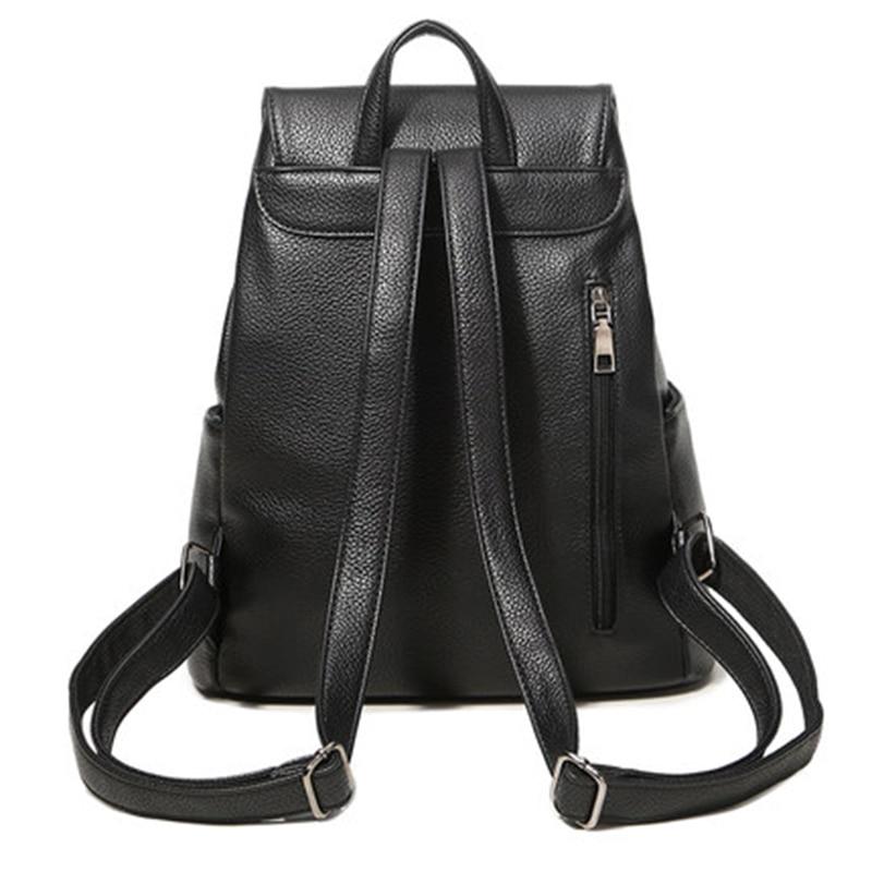 Image 3 - Women backpack  leather bags school backpacks female girls college preppy bag bowkont waterproof backbag Lady black mochilasBackpacks   -