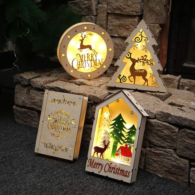 christmas decorations for home led wooden house ornaments luxury christmas gifts for friend new year showcase