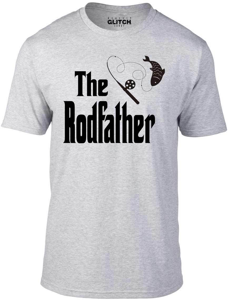 8cc8872781 The Rodfather T-Shirt - Funny t shirt fishing dad gift rod gangster fish  reel Comfortable t shirt,Casual Short Sleeve TEE