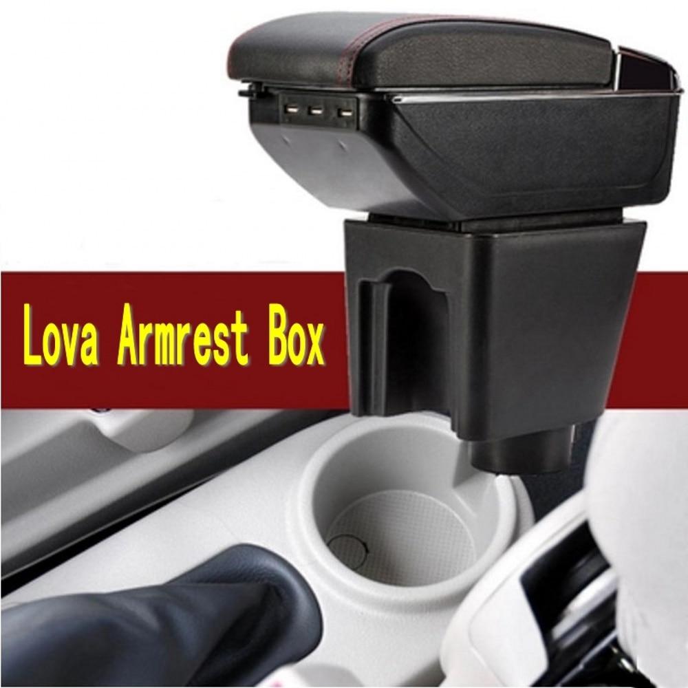 Para Chevrolet Aveo T200/T250 2002-2011 tapa giratoria de cuero consola central caja de almacenamiento reposabrazos 2008, 2009, 2010,