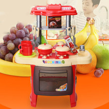 Pretend Kitchen Toys Multifunctional Children Play Toy Large Cooking Simulation Table Model Utensils