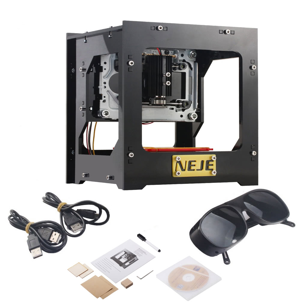 1000mW High Speed Mini USB Automatic DIY Print laser Engraving Carving Machine Off-line Operation with Protective Glasses 1000mw mini laser engraving machine diy print engraver cnc router automatic laser cutter off line operation protective glasses