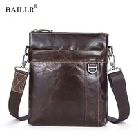 BAILLR Brand Cross Body Bag Genuine Leather Cowhide Luxury Design New Men S Bag Messenger Bag