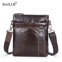 BAILLR Brand Cross Body Bag Genuine Leather Cowhide Luxury Design New Men S Bag Messenger Bag