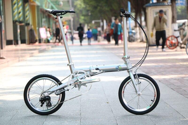 TRUYOU складной Велосипедный спорт 1402 алюминиевый складной велосипед 16 Мини вело велосипеды тормоза V складной 3 Скорость Городской пригородных велосипеды