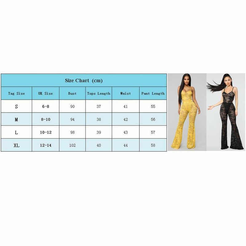 2109 Moda Kadın Lady Siyah Playsuit Bodycon Kolsuz Dantel Üst Çizme Kesim Düz Renk Sarı Tulum Romper Pantolon Yeni Öğe