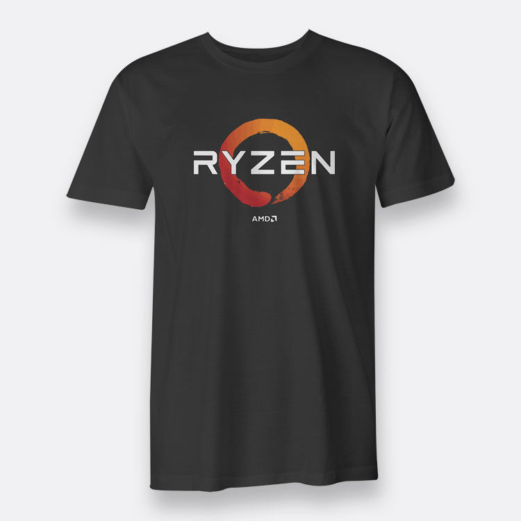 AMD Gaming RYZEN CPU Mens Tees S To 3XL Black T-shirt MenS Summer Style Fashion Swag Men T Shirts Colour Funny Printed