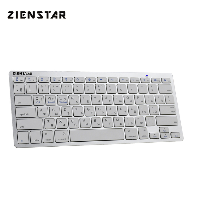 Zienstar teclado inalámbrico ultradelgado, Bluetooth 3,0, para Ipad/Iphone/Macbook/ordenador PC/tableta Android