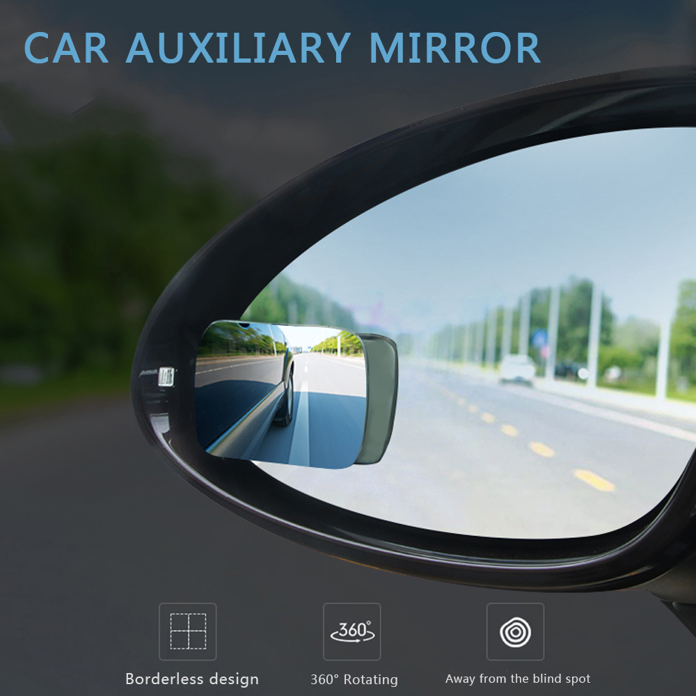 360 Degree Rotatable Interior Car Blind Spot Mirror Rearview Car Auxiliary Mirror