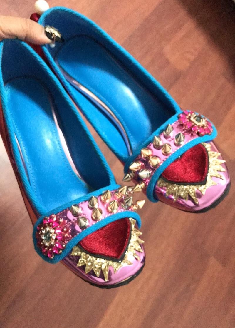 Zapatos Espejo Bombas Mujer Damas Boda Tacón As as Remaches Cuero Grueso Cuadrada Picture De Picture Cristales Alto Novia rYqgr