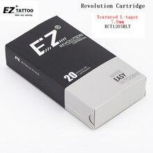 EZ Agulhas de Tatuagem Cartucho De Revolução Rodada Liner #12 0.35mm Textura Super Apertado L-cone 7.0mm para máquina de sistema 20 pçs/lote