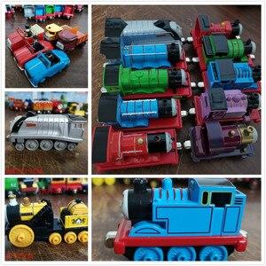 Image 2 - نموذج تعليمي معدني جديد للقطارات المغناطيسية لعبة سيارة صغيرة مناسبة لأعياد الميلاد هدايا ستيفن وينستون للأطفال