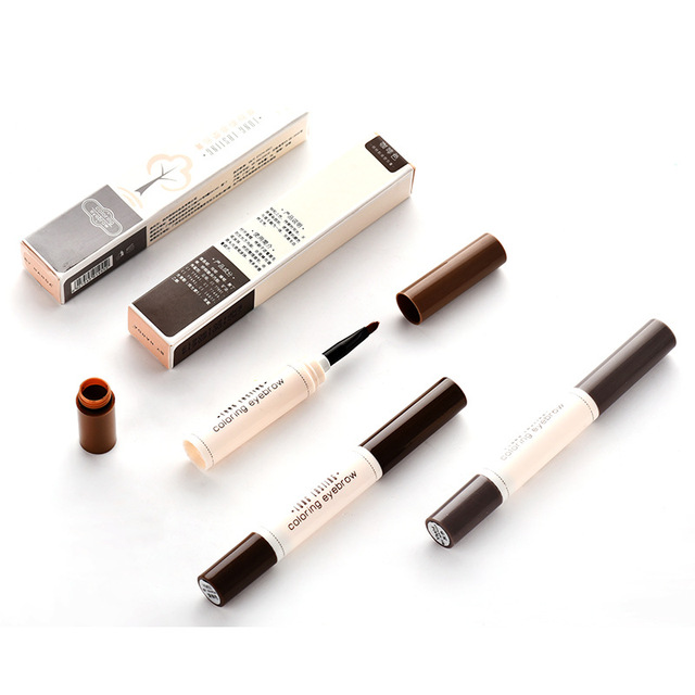 Fashion Professional Eye Brow Dye Cream Pencil Long Lasting Waterproof Brown Eyes Tint Paint Henna Eyebrow Set Makeup Kit 4