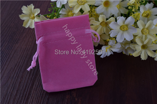 98pcs Cheap Pink Jewelry Pouches Velvet Gift Bags Wedding