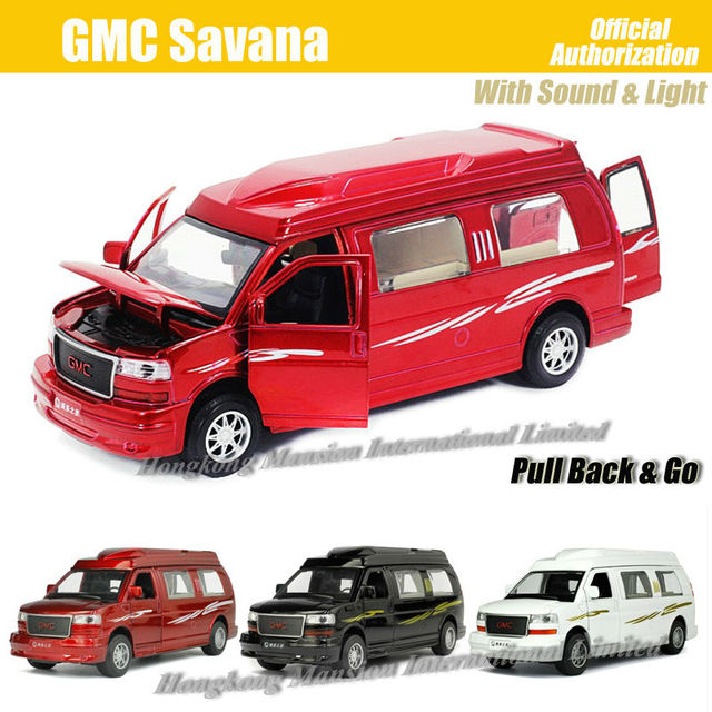 132 Scale Alloy Diecast Metal Car Model For GMC Savana Collection Pull Back