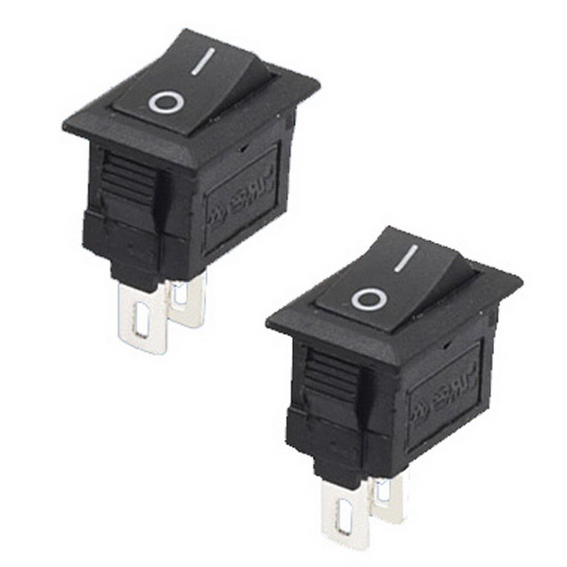 High Quality 5Pcs/Lot 2 Pin Snap-in On/Off Position Snap Boat Button Switch 12V/110V/250V P20 5 pieces lot ac 6a 250v 10a 125v 5x 6pin dpdt on off on position snap boat rocker switches