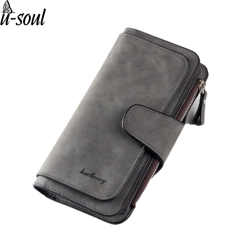 все цены на female purse scrub long standard women leather wallet pu leather women clutch hasp business card holder purse and wallet SJ030