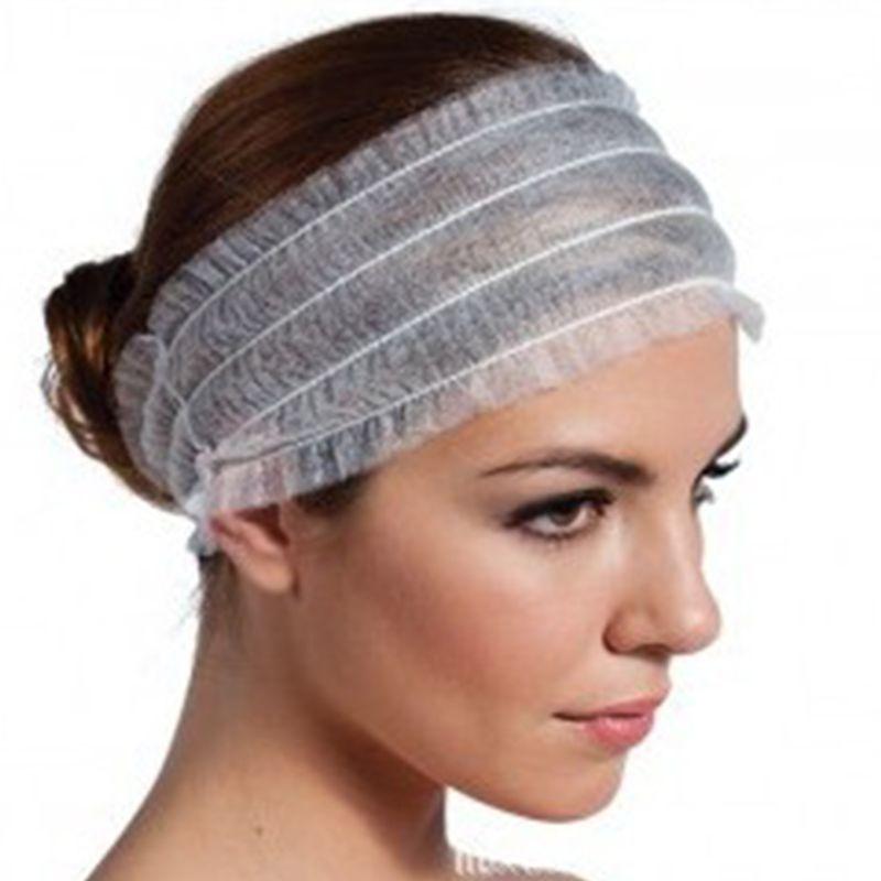 1/5/10/20Pcs Disposable Stretch Non-Woven Headband Women Girls SPA Salon Makeup Hotel Wide Hairband Travel Portable Turban