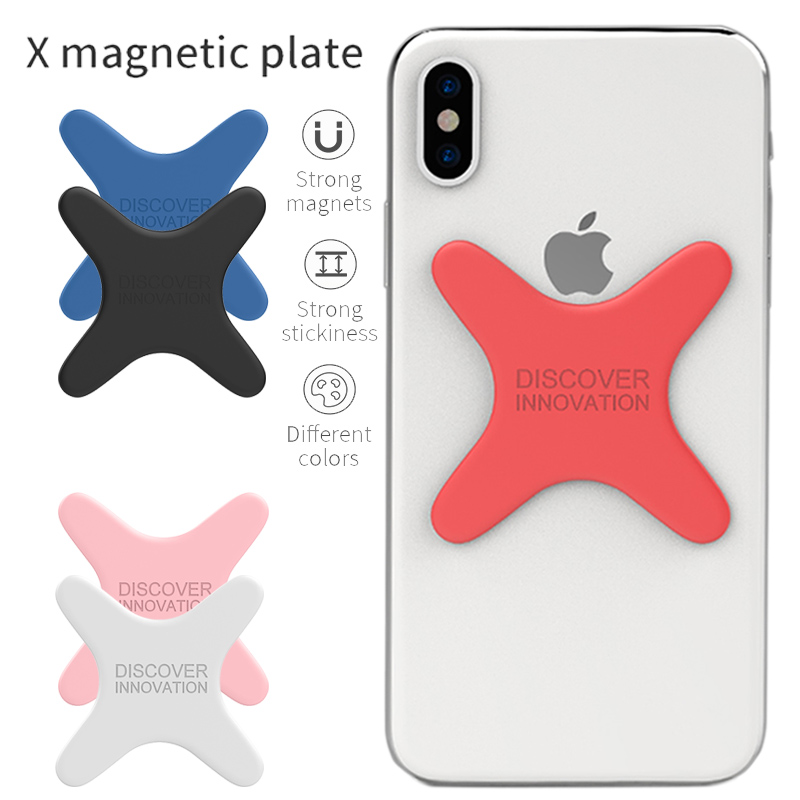 NILLKIN X Magnetic Plate For Samsung Galaxy S9 S8 Plus Note 8 Wireless Car Charger Pad Stick Silicone Holder For IPhone X 8 Plus
