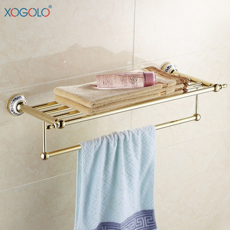 Xogolo Stainless Steel Towel Rack Accessories Double Layer Fashion Bath Towel Hanger Wholesale And Retail Towel HolderXogolo Stainless Steel Towel Rack Accessories Double Layer Fashion Bath Towel Hanger Wholesale And Retail Towel Holder