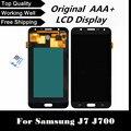 100% probado pantalla lcd con pantalla táctil digitalizador para samsung galaxy j7 j700 j700f j700h j700m shipping + tracking no.