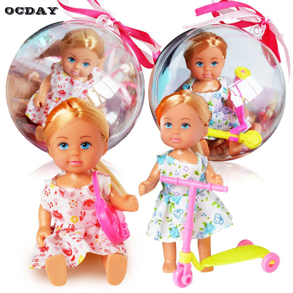 1Pc Removable Clear Ball Lovely American Girl Doll lol Toy Clothes Changing Figure Toy Funny Magic Ball Toy For children Girls