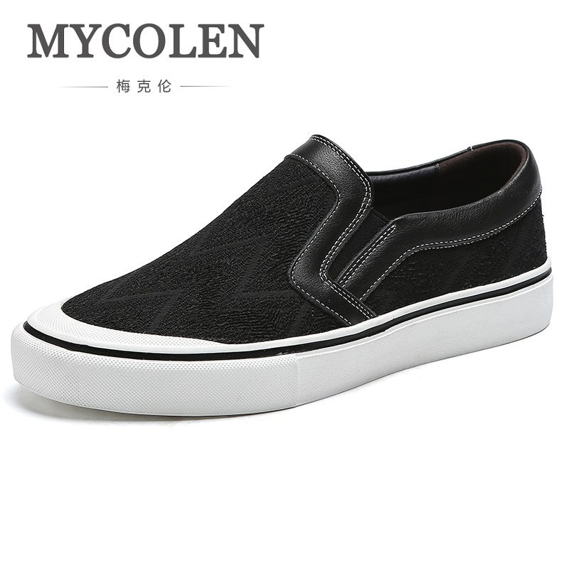 MYCOLEN The New Listing Men's Breathable High Quality Casual Canvas Shoes Slip On Men Fashion Flats Shoes Chaussure Homme Luxe mycolen 2018 new men casual shoes fashion high quality shoes man flats shoes fashion lace up shoes chaussure homme de marque