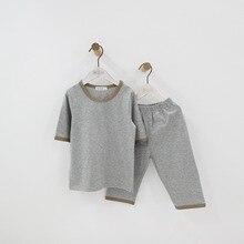 Детская одежда для мальчиков и девочек, хлопковые пижамы, комплект детской одежды, 12 мес., 18 мес., 24 мес., 2 3 4 5 6 7 8 От 9 до 15 лет летние тонкие одежда для малышей
