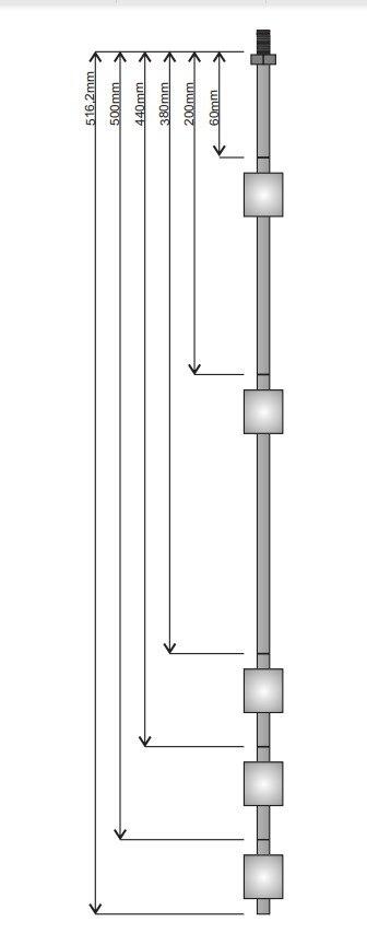 Lien de produits adaptés aux besoins du client par capteur automatique de commutateur de contrôle de niveau d'acier inoxydable de flottement de 5 boules