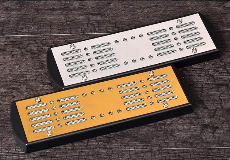 Nuevo 1 unids Cigarro Humidificador Caddy Deluxe, Espuma grande Humidificador, Accesorios de Metal Tabaco Humidificador Humidor Con Pegatinas Caigar
