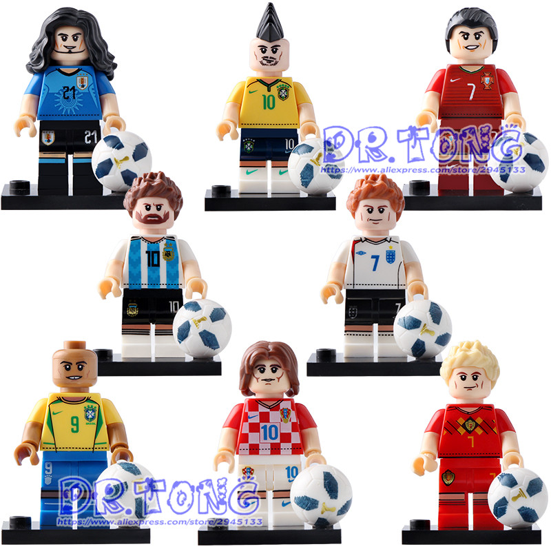 DR.TONG Single Sale RonalCroatian Soccer Player Luka Modric Action Figure Bricks Educational Learning Children Toys Xp013-018