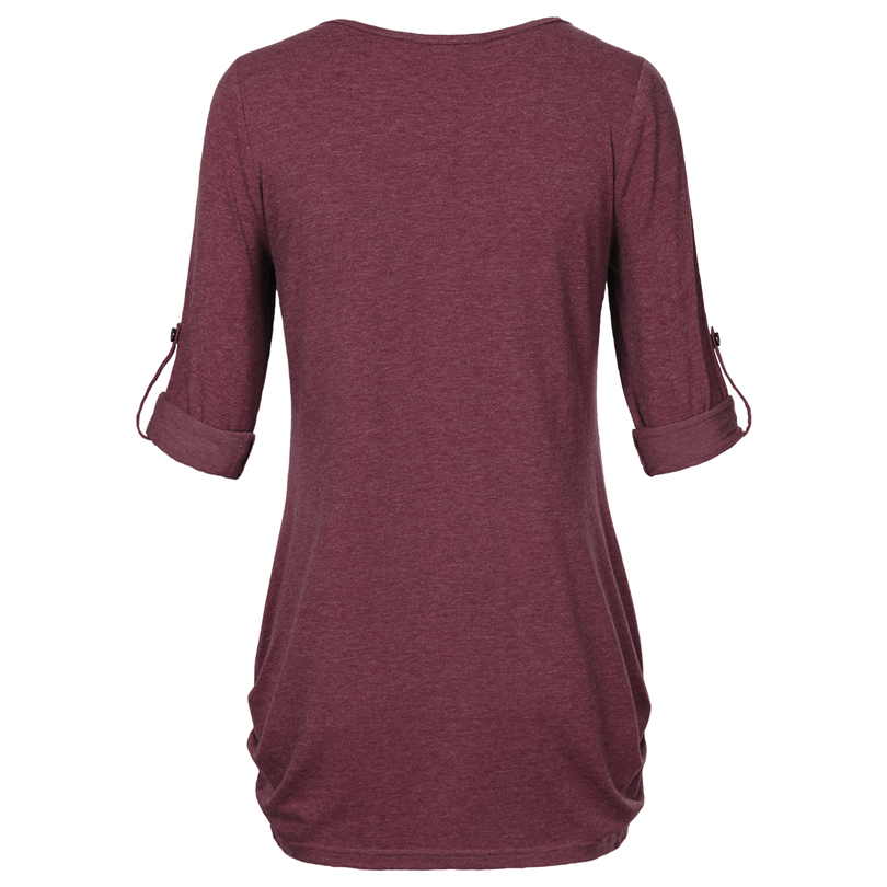 HTB1fzncPFXXXXbzXVXXq6xXFXXXQ - New Women Summer T-shirt Button Long Sleeve Female