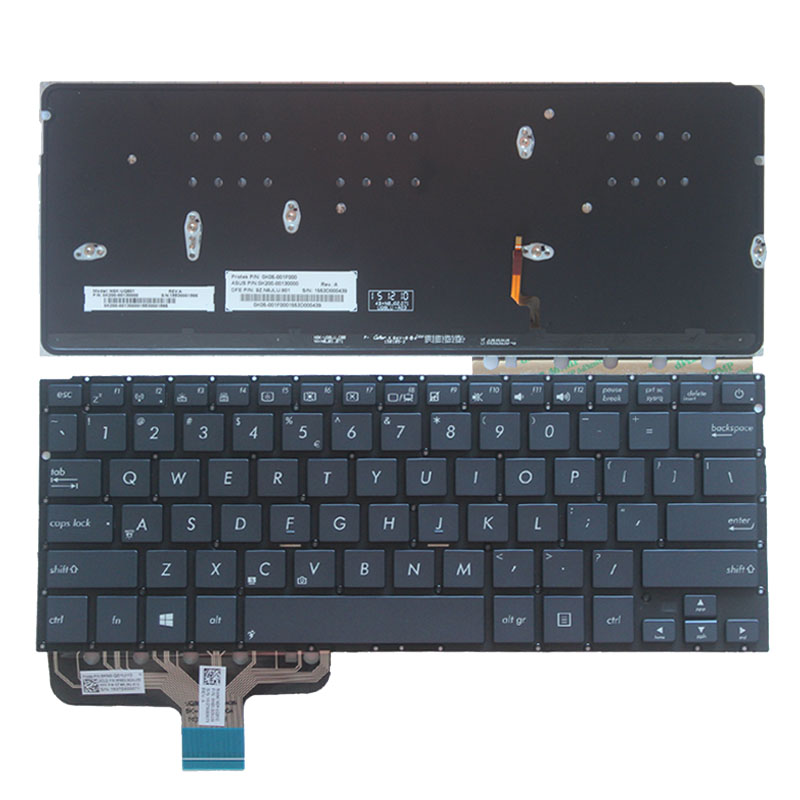 S-Union New Replacement US Silver Keyboard for ASUS UX31A IT Laptop