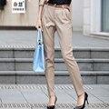 Высокое качество Брюки Женщины 2016 Осень Повседневная ПР Формальные Шаровары Женщины элегантный Офис прямо работа носить длинные Брюки