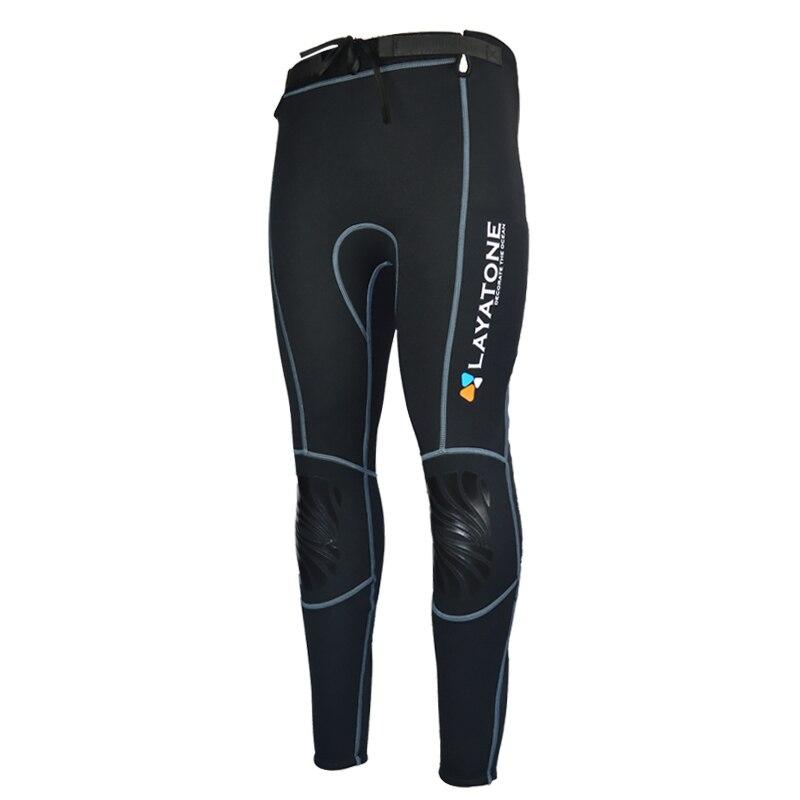 Layatone 3mm Neoprene Wetsuit Pants Women Men Diving pants Surfing Snorkeling Canoeing Swimming Warm Trousers Leggings