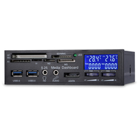 Multifuntion 5 25 Media Dashboard Card Reader USB 2 0 USB 3 0 E SATA SATA