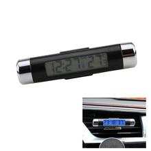 Loney Carro LCD Relógio Eletrônico Termômetro Eletrônico Relógio Uminous Auto Suprimentos Para Todos Os Acessórios Do Carro Auto