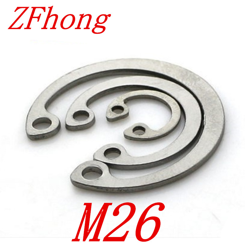 20pcs 304 Stainless Steel SS DIN472 M26 C Type Snap Retaining Ring For 26mm Internal Bore Circlip