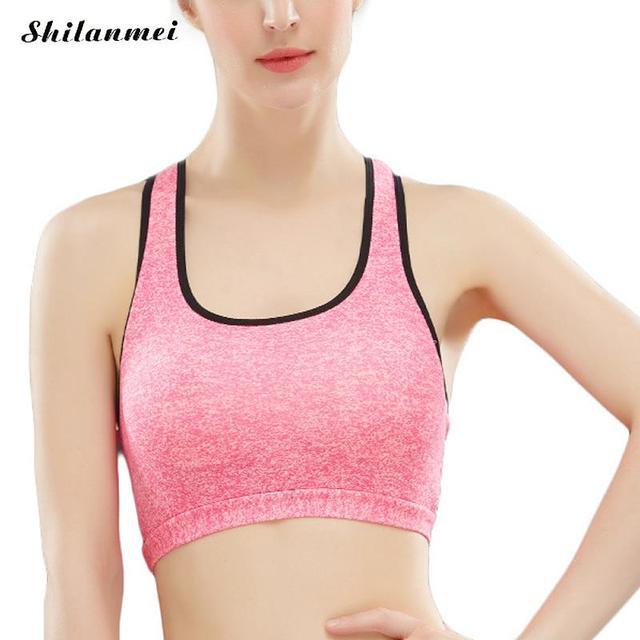 Hot Sexy Nouvelle Femme De Yoga Sport Top Fitness Femmes Courir Gym Jogging  Nageur Soutien- 9fe1651d0c3