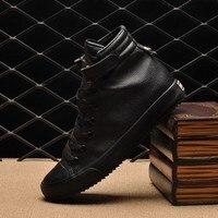Hot Mannen Schoenen Sapatos Tenis Masculino Mannelijke Herfst Winter Leather Laarzen Voor ManHigh Top Canvas Skateboarden Schoenen Mannen Schoenen