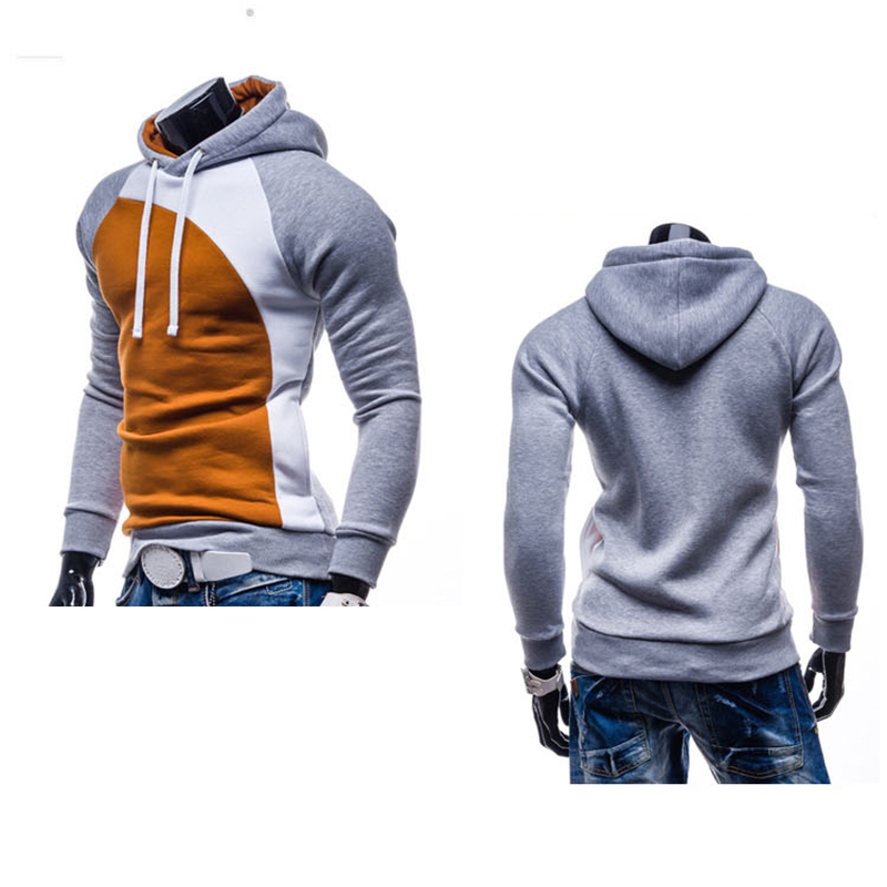 Pullovers Hoodies Men Autumn Thick Hooded Hoodies Mans Patchwork  Sweatshirts Hip Hops Males Casual Brand Clothing a57c2cf11b38
