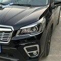 Lapetus автомобильный Стайлинг передние фары лампа век брови Крышка отделка 2 шт. ABS подходит для Subaru Forester 2019 2020