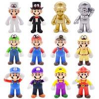8-15cm figuras de Super Mario juguetes Super Mario Bros Bowser Luigi Koopa Yoshi, Mario de La Odisea de PVC MODELO DE figura de acción juguetes muñecas