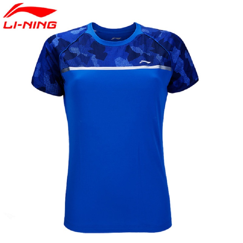Li-Ning 2018 Women's Badminton Competition T-shirt AT DRY Breathable Li Ning Comfortable Sports Tee AAYN034