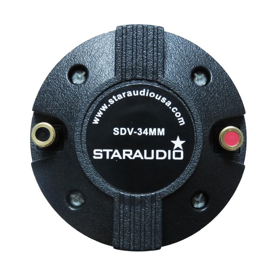 STARAUDIO  SDV-34MM 1PC 2000W Titanium Compression 1.35″ Screw-On Horn Speaker Driver Tweeter
