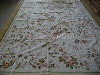 Miễn phí vận chuyển 9'x12 'mũi kim thảm/tấm thảm, handmade thảm, 100% New Zealand Len chất lượng cao, hoa hồng màu hồng