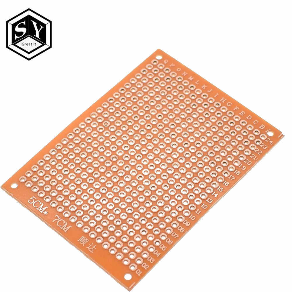 5PCS DIY Prototype Paper PCB Board Universal 5x7cm 5*7cm Circuit Breadboard