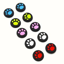 5 Pairs Replacement Cat Pad Style Silicone Analog Controller Joystick Thumb Stick Grip Cap Cover for Sony PS4 Controller