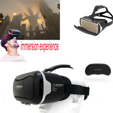 HOT VR box Virtual Reality Headset Smart Phone 3D Movie Games Video Glasses with Bluetooth Remote Control For iPhone For HTC